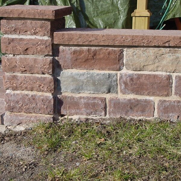 Mur i kalksten från öland