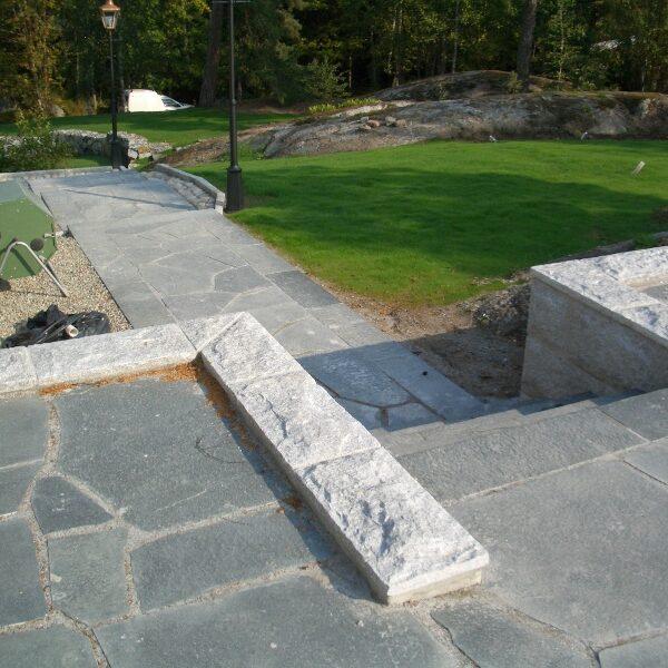 Offerdalsskiffer och muratäckning i granit