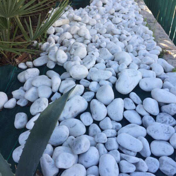 Tumlad Carrara marmor pryder trädgården