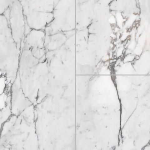 Marmorgolv i Calacatta marmor